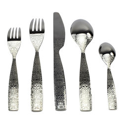 Alessi - Alessi 'Dressed' 5 pc. Cutlery Set - Jazz up your meals with these ornate utensils. The beautiful relief decoration on this extraordinary cutlery makes every meal feel like a special occasion.