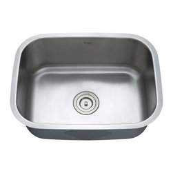 Kraus - Kraus 23 inch Undermount Single Bowl Stainless Steel Sink Combo Set - Add an elegant touch to your kitchen with unique Kraus kitchen combo
