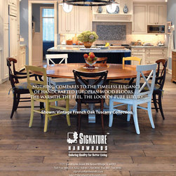 Vintage French Oak Flooring Collection - Our Vintage French Oak flooring is fully customized and hand-crafted to your specifications in any width, any color, any finish.  Please contact us for more information at 866.554.4252 or sales@signaturehardwoods.com.  Thank you.