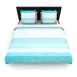 "Kess InHouse - CarolLynn Tice ""Waves"" Blue Aqua Cotton Duvet Cover (Queen, 88"" x 88"") - Rest in comfort among this artistically inclined cotton blend duvet cover. This duvet cover is as light as a feather! You will be sure to be the envy of all of your guests with this aesthetically pleasing duvet. We highly recommend washing this as many times as you like as this material will not fade or lose comfort. Cotton blended, this duvet cover is not only beautiful and artistic but can be used year round with a duvet insert! Add our cotton shams to make your bed complete and looking stylish and artistic!"