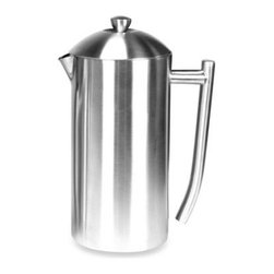 Frieling - Frieling Insulated Stainless Steel French Presses - Brew pure-tasting cups of piping hot coffee with these elegant, double wall insulated French Presses from Frieling. From their beautiful exterior to the inside plunger mechanism, each one boasts 18/10 stainless steel construction for lasting use.