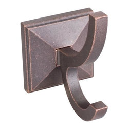 "Hardware Resources - Jeffrey Alexander Rustic Design Bath Hook - Dark Machined Antique Copper - - Base Diameter - 2-5/8"",Projection - 4-1/4"",Length - 4-1/4"",Finish - Dark Machined Antique Copper"