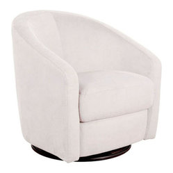 Madison Swivel Glider, Ecru