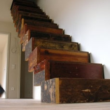 Eclectic  Creative Reuse: Reclaimed Wood Box Stairs | Apartment Therapy Chicago
