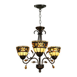 Dale Tiffany - Dale Tiffany TH90230 Pebble Stone 3-Light Fixture - Dale Tiffany TH90230 Pebble Stone 3-Light Fixture