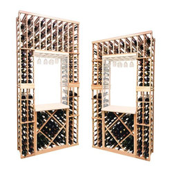 Vintner Series Wine Rack - Individual Bottle Wine Rack with Lower Diamond Bin