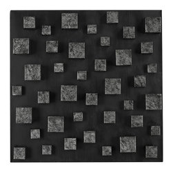 Sterling - Sterling 138-064 Nova Contemporary Wall Panel In Etched Silver (Square) By Sterl - Sterling 138-064 Nova Contemporary Wall Panel In Etched Silver (Square) By Sterling