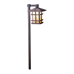 Kichler - Kichler Cross Creek Outdoor Landscape Lighting Fixture in Bronze - Shown in picture: Path & Spread 1-Lt 120V in Aged Bronze