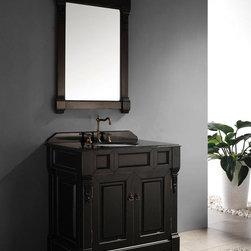 """36"""" Genoa Single Bath Vanity - Antique Black -"""