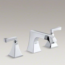 KOHLER - KOHLER Memoirs(R) Stately deck-mount high-flow bath faucet trim with non-diverte - Add classic details to your bath with this Memoirs bath faucet trim. Featuring a spout and ergonomic lever handles, this faucet trim brings both comfort and sophistication to your bathroom. When paired with high-flow ceramic disc valves, this trim offers optimal performance.