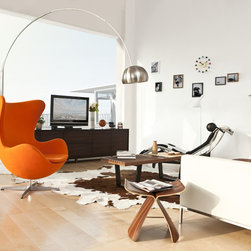 Jacobsen Style Egg Chair in Modern Classics - Sophisticated, body-cradling design offers perfect mix of comfort and style