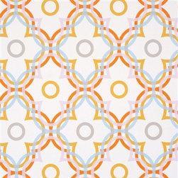 Walls Republic - Ochre Ripple Wallpaper R2226 - Ripple is a large scale abstract and refined contemporary floral wallpaper. Its bold overlapping graphic print will add a lively retro vibe and make a distinctive feature in any interior. It is a playful addition to a contemporary dining room, living room,or children's space.