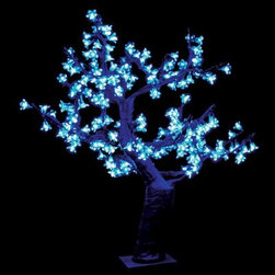 2.5 ft. Pre-lit LED Cherry Blossom Tree - Blue - About Brite IdeasEstablished in Omaha, Neb., in 1990, Brite Ideas Decorating, Inc., has become a holiday lighting industry leader, providing customers across the United States with durable, cutting edge lighting displays for both residential and commercial applications.Featuring a full line of innovative LED products and uniquely designed displays, Brite Ideas appeals to tradition, modern, simple, and even ornate tastes. It is their mission to promote excellence in the holiday lighting industry. With that in mind, Brite Ideas products go above and beyond the standard to create the best holiday atmosphere for you.