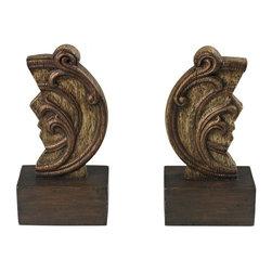 Joshua Marshal - Set Of 2 Reclaimed Artifact Bookends - Set Of 2 Reclaimed Artifact Bookends