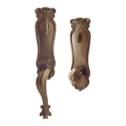 Art Nouveau Entrance Set - This beautiful Art Nouveau Entrance set features a stylized design of flowing, asymmetrical curves that resemble vines.
