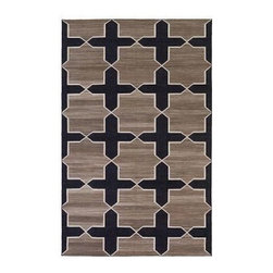 Pre-owned Madeline Weinrib Westley Thunder Cotton Rug 8'x10' - Hand-loomed in India, this large 8x10 cotton flat-weave rug from Madeline Weinrib creates a graphic impact while maintaining an effortless chic sensibility. It is a perfect addition to any room.     No large stains on rug. It should be noted that this rug has been displayed on the showroom floor and therefor has some wear.