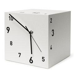 Modo Bath - Tothora Quadra 15 White Table Clock - Quadra 15 White Table Clock