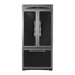 """Heartland - Classic Series HCFDR20BLK 36"""" 19.8 cu. ft. Counter-Depth French Door Refrigerato - Our 36 wide ENERGY STAR French door refrigerator is the perfect match for your Heartland range or woodburning cookstove Electronic touch controls and a built-in filtered water dispenser are just a few of the convenience features The 54 cu ft capacity..."""