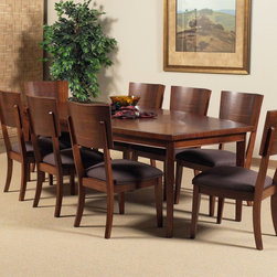"""Somerton Dwelling - Somerton Perspective Leg Dining Table Multicolor - 152-64 - Shop for Dining Tables from Hayneedle.com! The gentle curving lines of the Somerton Perspective Leg Table make it an essential addition to your dining set. With an included extension leaf this fine table can go from 72 to 92 inches to seat eight or more people. The deep chestnut brown finish of its Burmese veneers make this select hardwood table more than pleasing to the eye. This purchase is for dining table only please see """"Related Items"""" for matching chairs or complete dining set. About Somerton Dwelling For over 20 years Somerton Dwelling has meant quality furniture and a quality company. Its warehouses and distribution centers located both in the United States and China provide environmentally friendly manufacturing locations as well as mindful employment spaces. Quality materials such as eco-friendly rubberwood solid wood and wood veneers are used to create Somerton Dwelling pieces ... and any Somerton Dwelling furnishing you choose will make a welcome stylish addition to your home."""