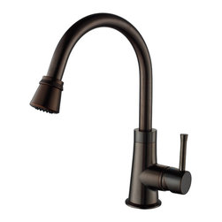 Kraus - Kraus KPF-2220-KSD-30CH Single Lever Pull Out Kitchen Faucet - Update the look of your kitchen with this multi-functional Kraus pull-out faucet
