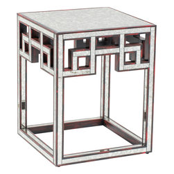 Fretwork Antique Side Table - The Fretwork Antique Side Table is inspired by vintage finishes, patterns and styles. The sleek frame features bold geometric embellishments.