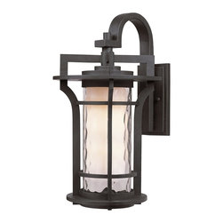 Maxim Lighting - Maxim Lighting Oakville Outdoor Light X-OBGW48403 - Bold, exterior design of Die Cast aluminum finished in Black Oxide support elongated cylinders of clear Water glass. Light is gently diffused by a second inner cylinder of Satin White glass.