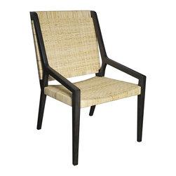 Noir - Noir - Zion Chair w/ Rattan, Pale - Pale Mahogany, Rattan woven seat and back