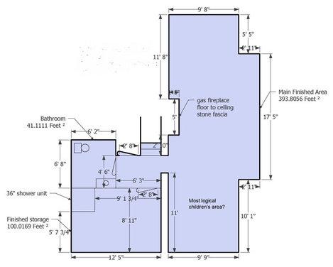Small, Narrow Basement. Please Help! - Houzz