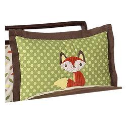 Sweet Jojo Designs - Forest Friends Pillow Sham by Sweet Jojo Designs - The Forest Friends Pillow Sham by Sweet jojo designs, along with the bedding accessories.