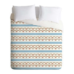 DENY Designs - DENY Designs Jennifer Denty Anchor Small Duvet Cover - Lightweight - Turn your basic, boring down comforter into the super stylish focal point of your bedroom. Our Lightweight Duvet is made from an ultra soft, lightweight woven polyester, ivory-colored top with a 100% polyester, ivory-colored bottom. They include a hidden zipper with interior corner ties to secure your comforter. It is comfy, fade-resistant, machine washable and custom printed for each and every customer. If you're looking for a heavier duvet option, be sure to check out our Luxe Duvets!