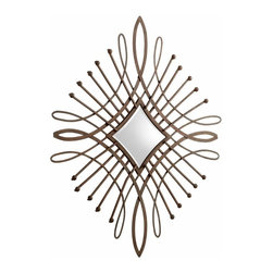 Large Iron Diamond Design Mirror Wall Decor - *Bloem Mirror