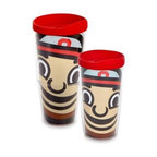 Tervis - Tervis Ohio State University Brutus Wrap Tumblers with Red Lid - Hydrate and display your school spirit with these ultra-durable collegiate Tervis Wrap Tumblers featuring a colossal image of Brutus Buckeye, Ohio State University's beloved mascot. Double-walled insulation keeps hot drinks hot and cold drinks cold.