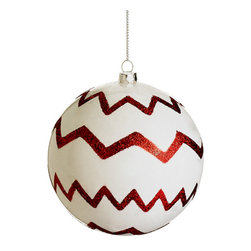 Silk Plants Direct - Silk Plants Direct Glitter Chevron Pattern Plastic Ball Ornament (Pack of 12) - Pack of 12. Silk Plants Direct specializes in manufacturing, design and supply of the most life-like, premium quality artificial plants, trees, flowers, arrangements, topiaries and containers for home, office and commercial use. Our Glitter Chevron Pattern Plastic Ball Ornament includes the following: