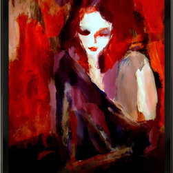 "overstockArt.com - Wierzbicki - Finesse - Finesse is a colorful expressionist painting of a woman by Helena Wierzbicki. Enjoy its beauty and color reproduced as a fine canvas print. Influenced by the Expressionist Movement Helena's love of Art has developed and grown from her early years as a child. She can not imagine wanting to do anything else. The artist says ""Making art is an innate response to the inner and outer worlds, and a balancing act between the intuitive and the considered."" Helena says, ""Art is an evolving process, representing only elements which are the essence of the object or of the imaginary being. Relying on the desires for beauty, poetics and seduction."""