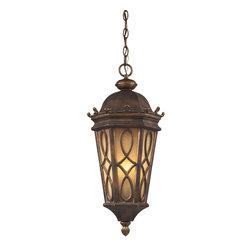 Elk Lighting - Traditional Classic 3 Light Outdoor PendantBurlington Junction Collection - K.