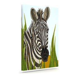 """Kess InHouse - Art Love Passion """"Zebra"""" Black White Wrapped Art Canvas (20"""" x 16"""") - Bring your outdoor patio to life with this artistic outdoor canvas wrap featuring gorgeous artwork by KESS InHouse. These canvases are not only easy to hang and remove but also are the perfect addition to your patio collection. These canvases are stretched around a wooden frame and are built to withstand the elements and still look artistically fabulous. Decorating your patio and walls with these prints will add the splash of art and color that is needed to bring your patio collection together! With so many size options and artwork to choose from, there is no way to go wrong with these KESS Canvas Wraps!"""