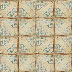 Ann Sacks Tiempo Terra Cotta Tile - These hand-painted terra cotta tiles are amazing - and the company that makes them has mastered the art of the patina, making them look like they've been distressed from centuries of use. A variety of patterns and color combinations and sizes are available - good luck picking a favorite!