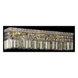 Elegant Lighting - Maxim Chrome Six-Light Bath Fixture with Royal Cut Golden Teak Smoky Crystal - Royal Cut crystal is a combination of high quality lead free machine cut and machine polished crystals and full-lead machined-cut crystals to meet a desirable showmanship of an authentic crystal light fixture.  -Recommended to be professionally hung and supported independently of the outlet box. Consult an electrician for guidance to determine the correct hanging procedure.  -Crystals may ship separately and some assembly is required.  -Depending on the size  design the assembly can be time consuming, but is well worth the effort. Elegant Lighting - 2032W26C-GT/RC
