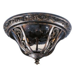 Maxim Lighting - Maxim Lighting 40149WGTR Montecito 2-Light Outdoor Ceiling Mount In Tortoise - Features