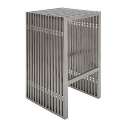 Nuevoliving - Nuevo Living Amici Bar Stool - Silver - Features: