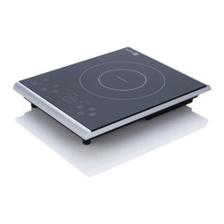 "Fagor - Fagor 1800-Watts Portable Induction Cooktop - Temperature setting range is from 140""F"" 390""F and has 1800 watts of power. 7 power levels settings that are related to various cooking functions; (Melt, Warm, Med Low, Med High, Boil, Sear, Stir Fry).Durable, easy to clean with a high quality Schott Ceran glass surface. Includes 2 new Quick Launch buttons,""Boil"" and""Warm"", which take the unit directly to either desired temperature level.A""Quick Temperature Check"" button that displays the actual cooking temperature. Each power level includes a customized built in timer.Also includes a user's manual, quick guide and recipe cards. Safe to use, unit will not generate heat and will shut off automatically if no cookware is detected.Uses regular household 110 - 120V.Includes a Child Safety Lock. ETL approved in USA and Canada. Dimensions: 11.75 L x 15 W x 2.38 H """