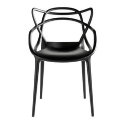Kartell - Masters Chair Set of 4 by Kartell - Contemporary designers Philippe Starck and Eugeni Quitllet pay dutiful homage to their predecessors by seamlessly combining Jacobsen's, Saarinen's, and Eames' most famous chair designs into a single piece. The Kartell Masters Chair Set of 4 is especially beneficial when furnishing a kitchen or dining room. Each piece is suitable for outdoor use. Founded in 1949 by Giulio and Anna Castelli, Kartell has become the world leader—and innovator—in the realm of molded plastic furniture. Headquartered in Italy, Kartell works with designers worldwide to create their distinctive line of modern furniture, lighting and accessories. Dedication to discovering and employing new technologies and manufacturing methods results in a growing line of durable, stylish and cutting edge products.
