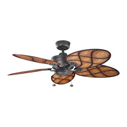 "Kichler Lighting - Kichler Lighting - 320510DBK - Crystal Bay - 52"" Ceiling Fan (Motor Only) - This understated 52 inch Crystal Bay Climates design features in different finish that will subtly highlight the existing decor in your home."