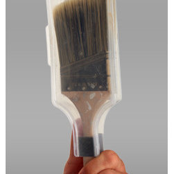 The Paint Brush Cover - This brush cover will make the painting process easier! You won't have to wrap the brushes at all or mess with rinsing them after each job. Just snap them in this clear cover, and they'll stay fresh until your second coat. They make one for rollers too.