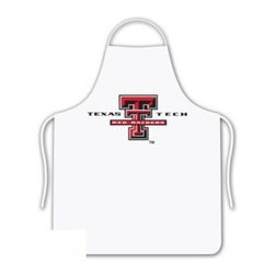 Sports Coverage - Texas Tech Red Raiders Tailgate Apron - Collegiate Texas Tech University Red Raiders White screen printed logo apron. Apron is 100% cotton twill with screenprinted logo. One Size fits all.