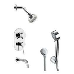 Remer - Contemporary Sleek Tub and Shower Faucet with Hand Shower - Multi function tub and shower faucet.