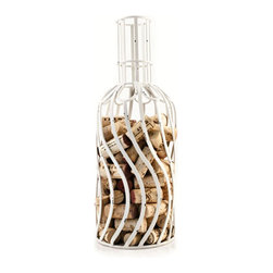 Bottle Designs Cork Holder - If you can measure your life in coffee spoons, why not measure life in glasses of wine? Remember every occasion that popped a cork by keeping each cork in this functional display.
