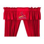 Store51 LLC - MLB St Louis Cardinals 5-Piece Long Curtain-Drapes Valance Set - Features:
