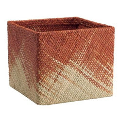 Threshold Sea Grass Large Milk Crate, Orange, Set of 2 - Baskets are always handy for carrying items around an outdoor space. Transport your party essentials in style with this set of two sea grass crates.