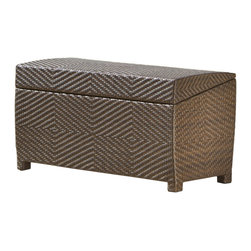 Great Deal Furniture - Landry Outdoor Brown Wicker Storage Ottoman - The Landry Outdoor Brown Wicker Storage Ottoman is a great addition to any setting - indoor or outdoor. Most seem to enjoy using this piece outdoors in a patio and/or poolside setting. This wicker ottoman is the perfect solution to store pool chemicals, towels, childrens' toys, candles, trays, etc. The wicker is carefully crafted to ensures even, straight sides and edges. Slight color variations of each strand of wicker range from dark khaki to light brown to darker brown. The random combination of these organic tones ensure that no two pieces are alike, and that this piece truly fits a natural environment. The top of the ottoman (the lid) has basic weaving, while the sides feature intricate diamond-shaped weaving patterns. Plus, the wicker is strong enough to allow this ottoman to be quickly positioned to create extra seating for visiting family and friends.